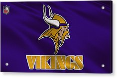 Minnesota Vikings Uniform Acrylic Print by Joe Hamilton