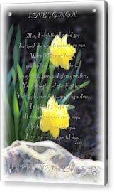 Mothers Day Card Acrylic Print by Debra     Vatalaro