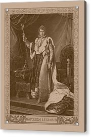 Napoleon Bonaparte Acrylic Print by War Is Hell Store