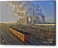 Neurath Power Station Germany Acrylic Print by David Davies