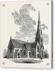 New Church Of St Acrylic Print by English School