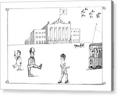 New Yorker October 7th, 1974 Acrylic Print by Saul Steinberg