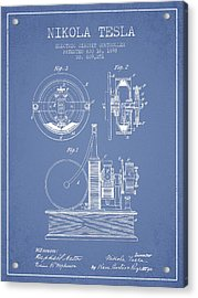 Nikola Tesla Electric Circuit Controller Patent Drawing From 189 Acrylic Print by Aged Pixel