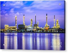Oil Refinery Plant Acrylic Print