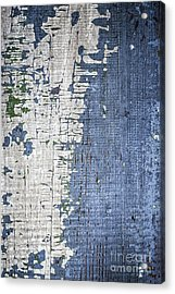 Old Painted Wood Abstract No.4 Acrylic Print
