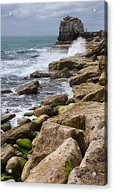On The Rocks Acrylic Print by Shirley Mitchell