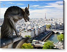 Paris Panorama France Acrylic Print by Michal Bednarek