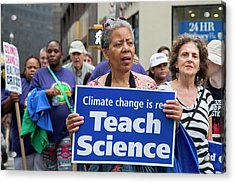 People's Climate March Acrylic Print by Jim West