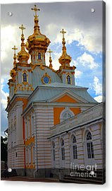 Peterhof Palace Russia Acrylic Print by Sophie Vigneault