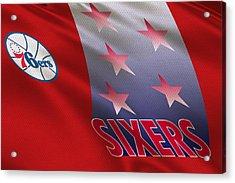 Philadelphia 76ers Uniform Acrylic Print