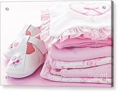 Pink Baby Clothes For Infant Girl Acrylic Print