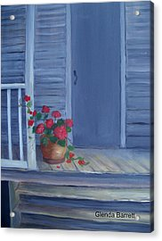 Porch Flowers Acrylic Print by Glenda Barrett