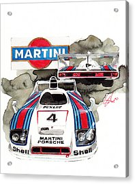 Porsche Martini Racing Car Acrylic Print