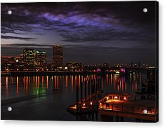Portland Waterfront Acrylic Print by Jean-Jacques Thebault
