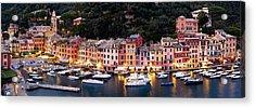 Portofino Italy Acrylic Print by Carl Amoth