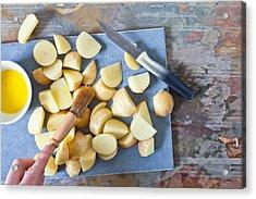 Potatoes Acrylic Print by Tom Gowanlock