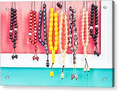 Prayer Beads Acrylic Print