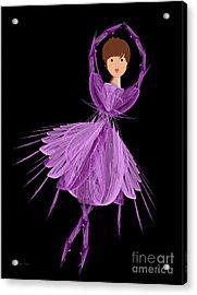 4 Purple Ballerina Acrylic Print by Andee Design