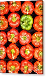 Red Peppers Acrylic Print by George Atsametakis