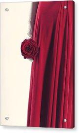 Red Rose Acrylic Print by Joana Kruse