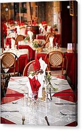 Restaurant Patio In France Acrylic Print by Elena Elisseeva