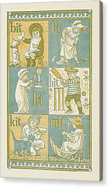 Rhyming Words Ending In The Letter T Acrylic Print by British Library