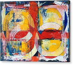 4 Rings 4 Squares Acrylic Print by Mark Opdahl