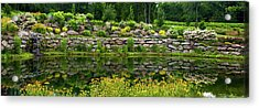 Rocks And Plants In Rock Garden Acrylic Print