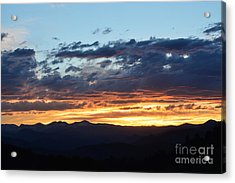 Acrylic Print featuring the photograph Rocky Mountain Sunset by Kate Avery