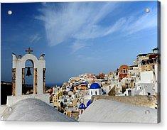 Santorini Greece Acrylic Print by John Jacquemain