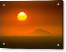 Santorini Sunset Acrylic Print by Bjoern Kindler