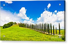 Scenic Tuscany Acrylic Print