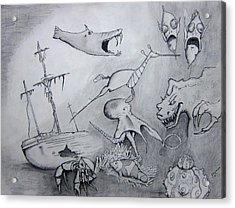 Sea Dragon Acrylic Print by Dan Twyman