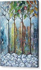 4 Seasons On Ice 061110 Acrylic Print by Selena Boron