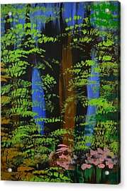 Acrylic Print featuring the painting 4 Seasons Spring by P Dwain Morris