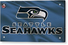 Seattle Seahawks Uniform Acrylic Print by Joe Hamilton