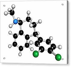 Sertraline Antidepressant Drug Molecule Acrylic Print by Molekuul