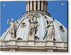 St Peter Dome In Vatican Acrylic Print