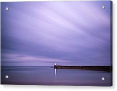 Stunning Long Exposure Landscape Lighthouse At Sunset With Calm  Acrylic Print by Matthew Gibson