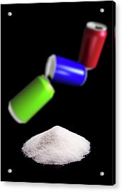 Sugar In Fizzy Drinks Acrylic Print by Victor Habbick Visions/science Photo Library