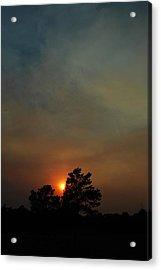 #sunset Acrylic Print by Becky Furgason