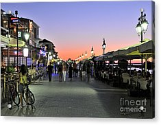 Sunset In Lefkada Island Acrylic Print by George Atsametakis