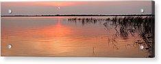 Sunset  River Panorama Acrylic Print