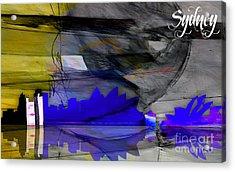 Sydney Australia Skyline Watercolor Acrylic Print