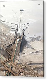 Tailings Pond At Syncrude Mine Acrylic Print