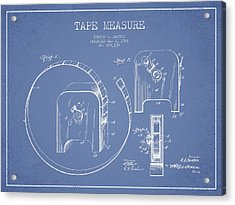 Tape Measure Patent Drawing From 1906 Acrylic Print