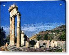 Temple Of Athena In Delphi Acrylic Print