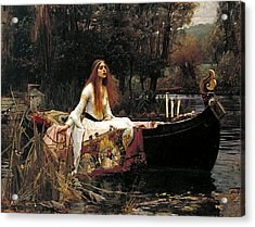 The Lady Of Shalott Acrylic Print by John William Waterhouse