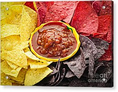 Tortilla Chips And Salsa Acrylic Print by Elena Elisseeva