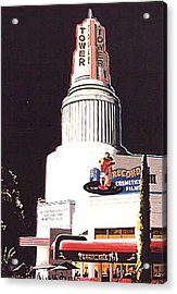Tower Theatre Acrylic Print by Paul Guyer